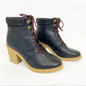 Nautica Hawse Black Heeled Ankle Boots Size 9